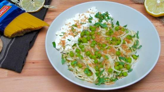 Špageti s graškom i ricottom