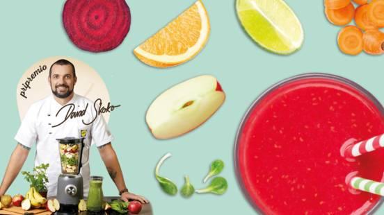Smoothie od cikle, mrkve, jabuke, naranče i matovilca