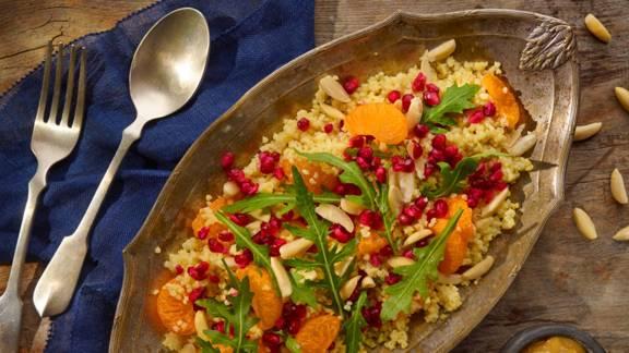 Salata od kaše od prosa s mandarinom i šipkom