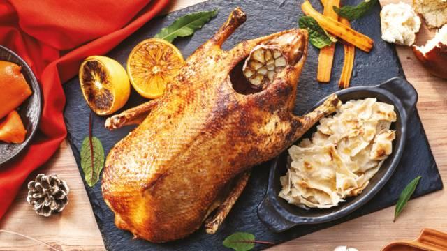Pečena patka s mlincima
