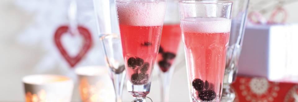 Šampanjac s borovnicama