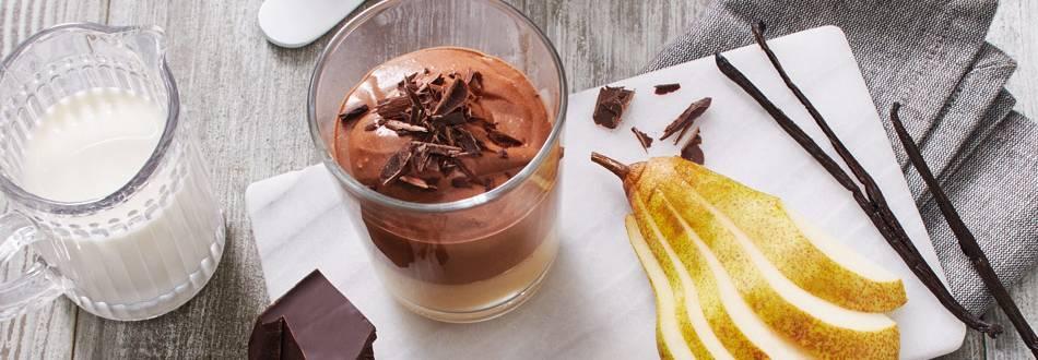 Čokoladni jogurt s kruškama