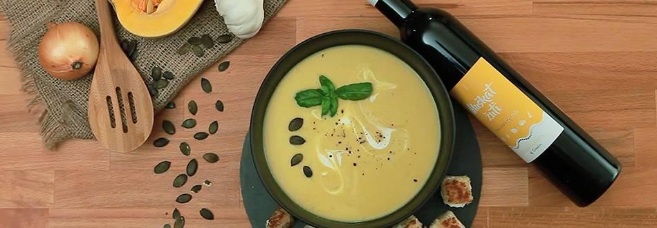 Krem juha od bundeve i zapečenim krutonima sa sirom