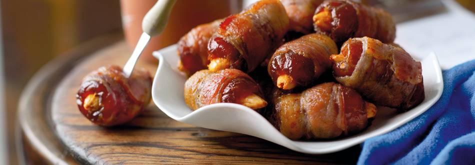 Punjene datulje u slanini