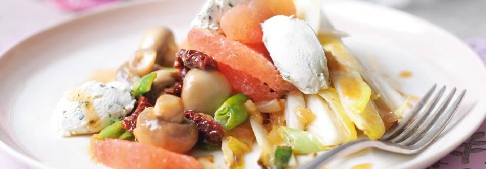 Topla salata s preljevom od grejpa