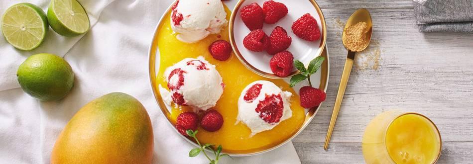 Mousse od jogurta i malina + umak od manga