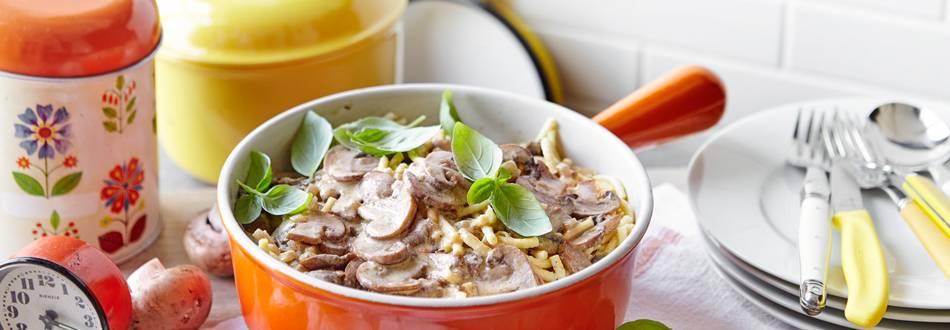 Špecle u umaku od gljiva i curryja