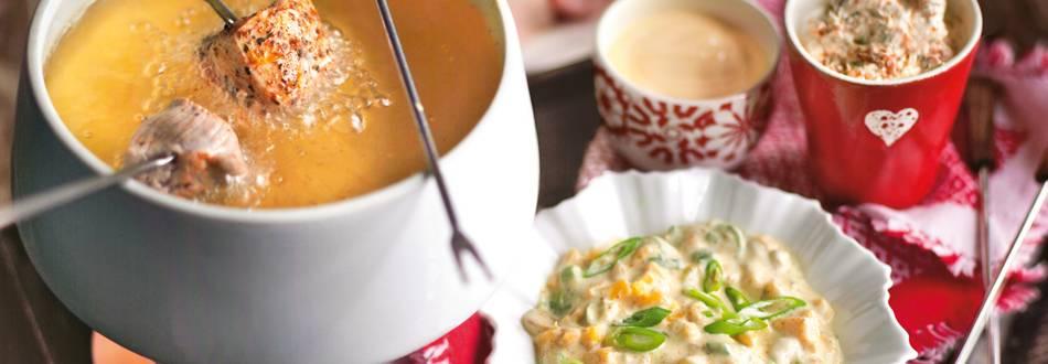 Mesni fondue s tri umaka