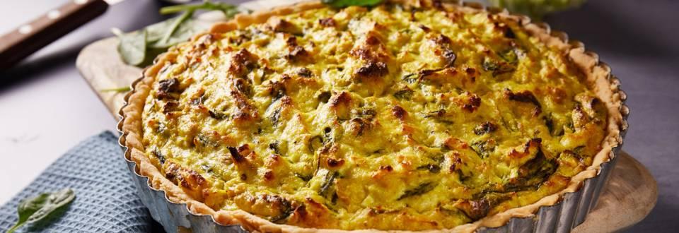Quiche sa svježim sirom, špinatom i keljom